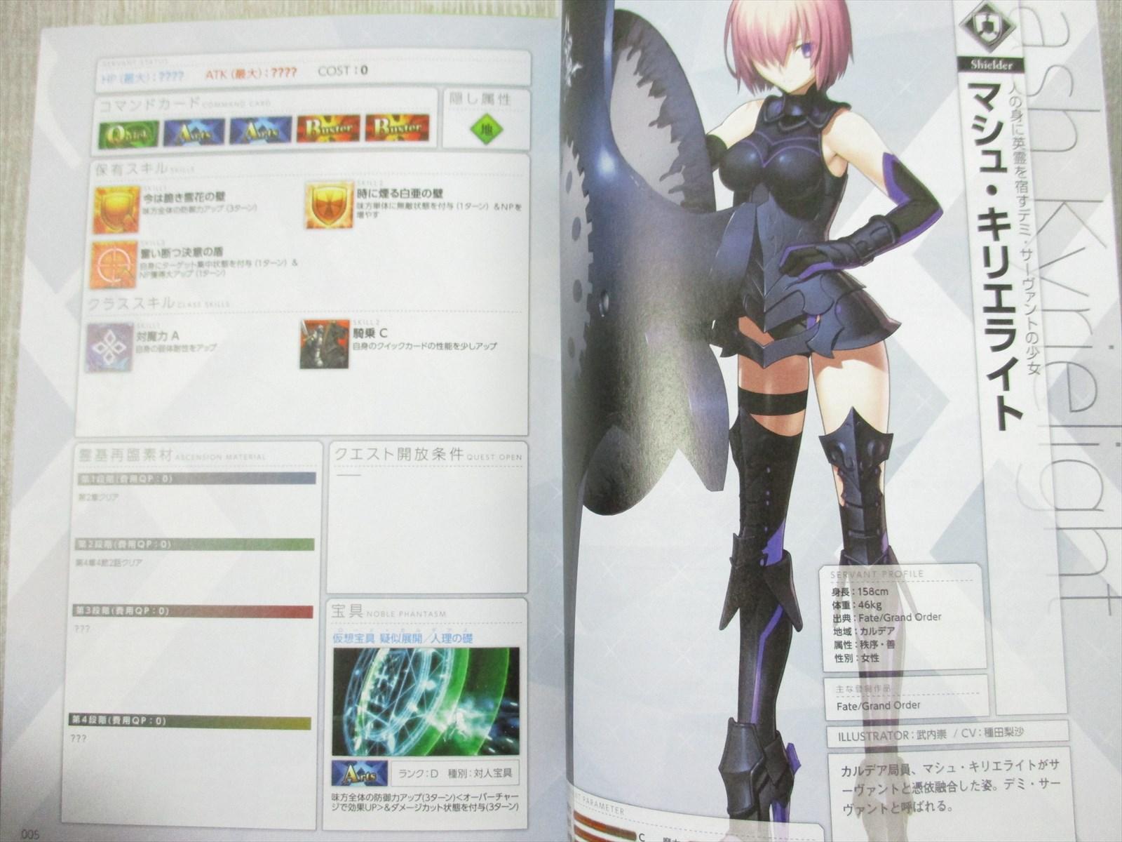FATE GRAND ORDER Servant Storage Art Guide Book Ltd Type-Moon *