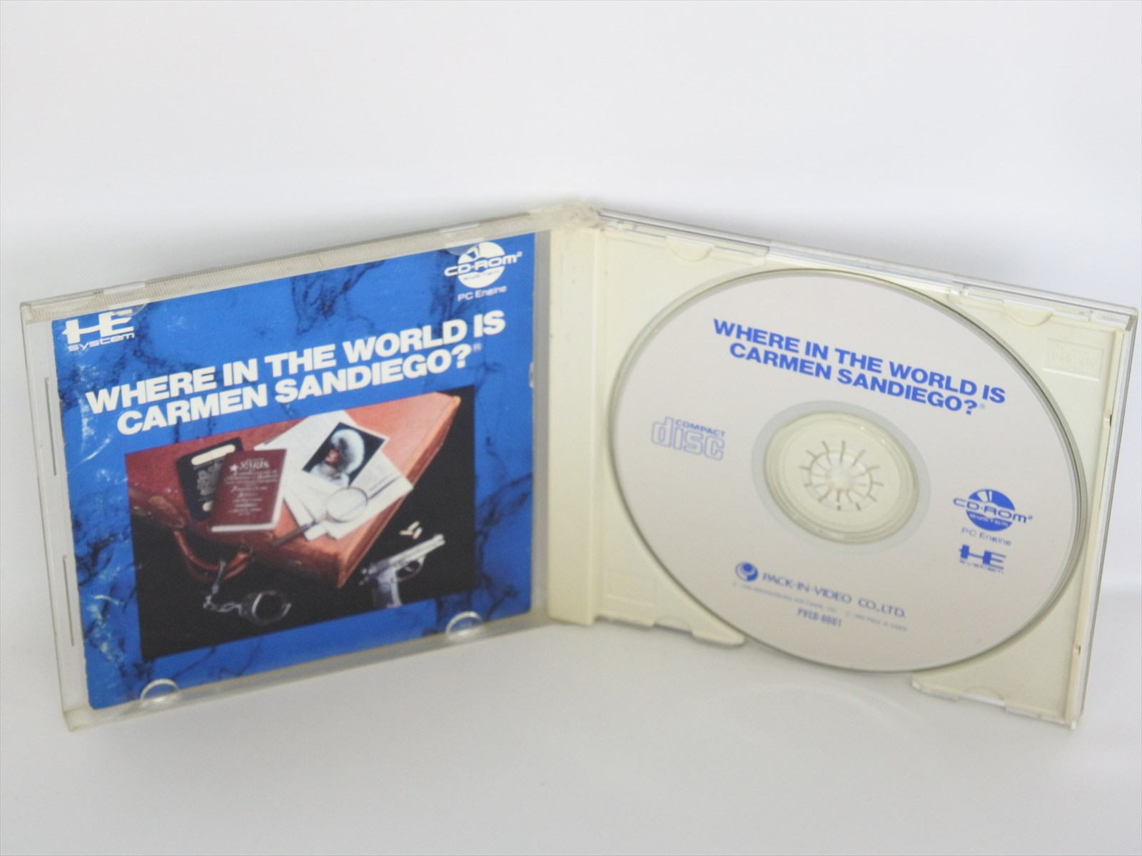 Details about WHERE IN THE WORLD IS CARMEN SANDIEGO ref/C PC-Engine CD PCE  Grafx Japan Game pe